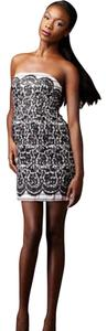 Tibi Straplessdress Laceprint Tattoo Minidress Dress