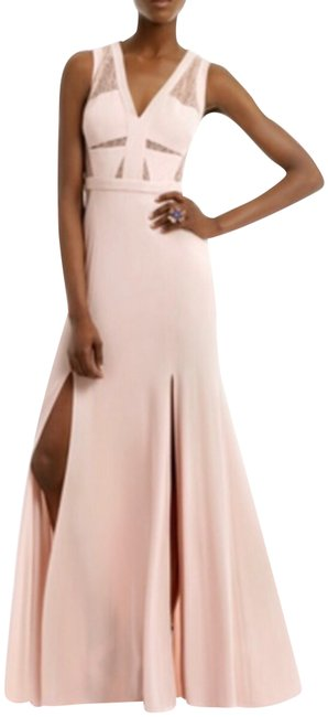 Item - Bare Pink Cristy Sleeveless Lace-insert Gown Long Formal Dress Size 2 (XS)