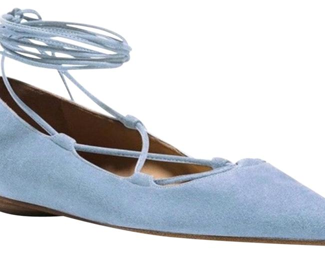 Item - Baby Blue Mk Collection Lace Up Flats Size EU 38 (Approx. US 8) Regular (M, B)
