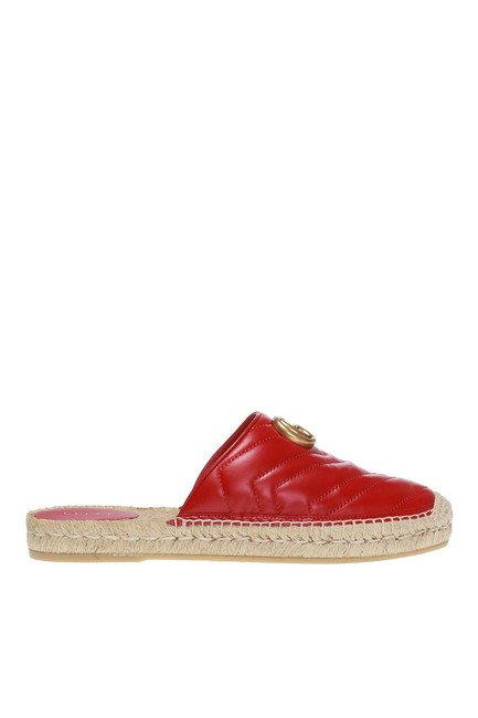 Item - Red Double G Espadrille Us) Flats Size EU 38 (Approx. US 8) Regular (M, B)