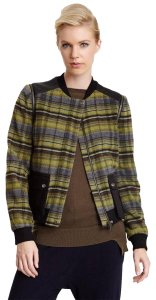L.A.M.B. Plaid Leather Jacket