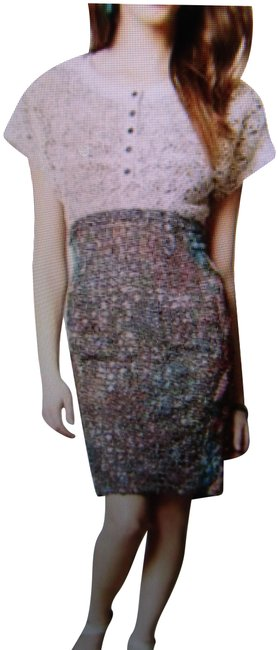 Item - Multicolor Lace Study Sheath By Byron Lars New Mid-length Work/Office Dress Size 8 (M)