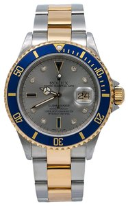 Rolex Rolex Submariner Date 16613 40MM Silver Dial With Two Tone Bracelet