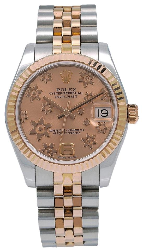 Rolex Pink Datejust 178271 31mm Dial With Two Tone Bracelet Watch