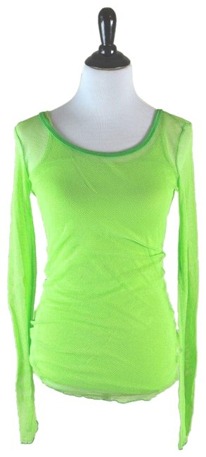 Item - Green Casual Mesh Long Sleeve T-shirt with Camisole. Tee Shirt Size 10 (M)