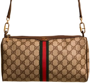d58c3599f48e59 Gucci Cross Body Bag · Gucci. Monogram Gg Supreme Sherry Line Ophidia Brown  Pvc/Coated Canvas with Leather Trim ...