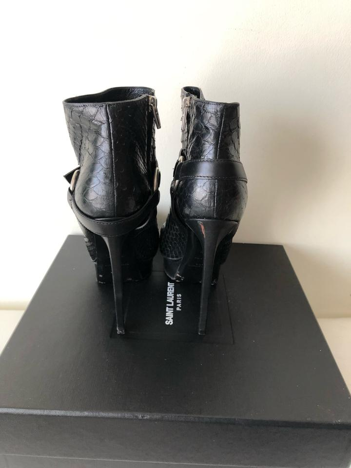 9dc53adf7e7 Black Janis Python Ankle Boots/Booties Size EU 37 (Approx. US 7 ...