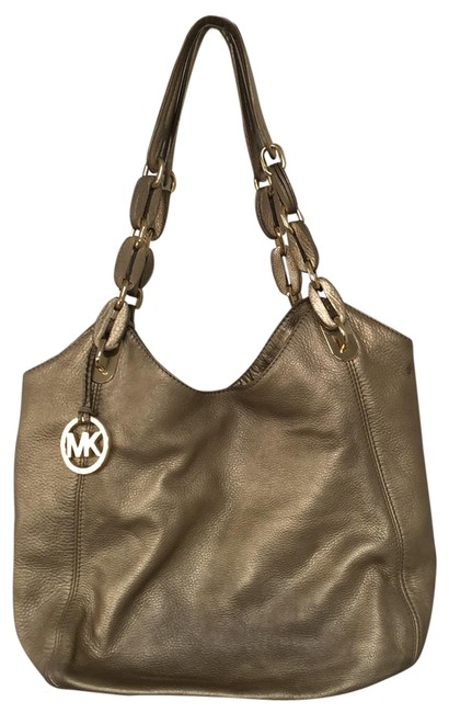 Item - Unknown Metallic Gold Leather Hobo Bag