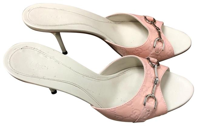 Item - Pink /White Box Gg Leather Sandals Is Included Pumps Size EU 39 (Approx. US 9) Wide (C, D)