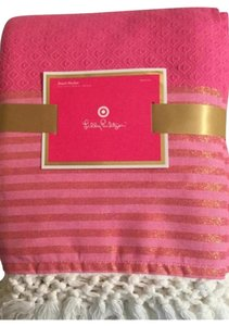 44a3c6837e26d1 Lilly Pulitzer Lilly Pulitzer Glitter Pink Large Blanket, Bedspread