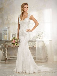 Alfred Angelo Ivory 8551 Formal Wedding Dress Size 10 (M)