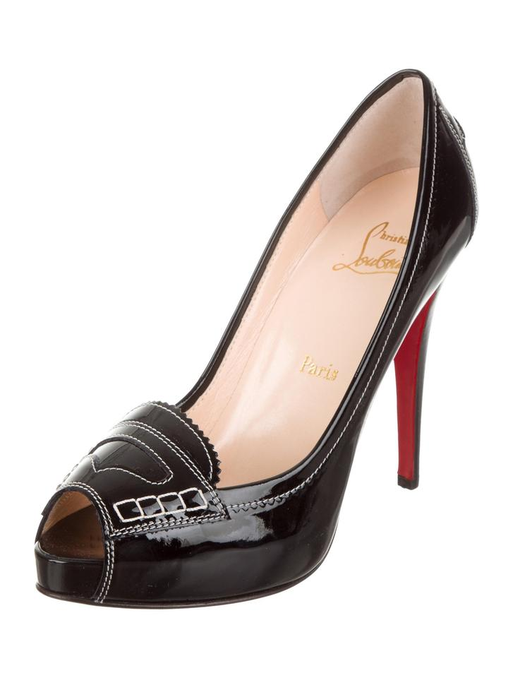 5cf90d8ea45 Christian Louboutin New Patent Leather Peep-toe 9.5 Pumps Size EU 39.5  (Approx. US 9.5) Regular (M, B) 40% off retail