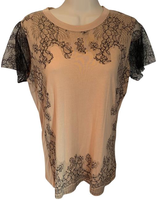 Valentino Beige & Black T-shirt Couture Tee Shirt Size 8 (M) Valentino Beige & Black T-shirt Couture Tee Shirt Size 8 (M) Image 1