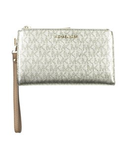Michael Kors Coated Canvas Wristlet in Gold