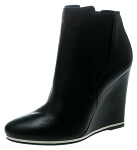 Le Silla Leather Rubber Black Boots