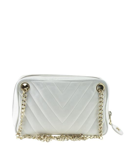 Item - Vintage Cream Chevron (170173) White Lambskin Leather Satchel