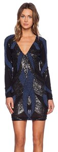 Bless'ed are the Meek Beaded Mini Long Sleeve Beads Sequins Dress