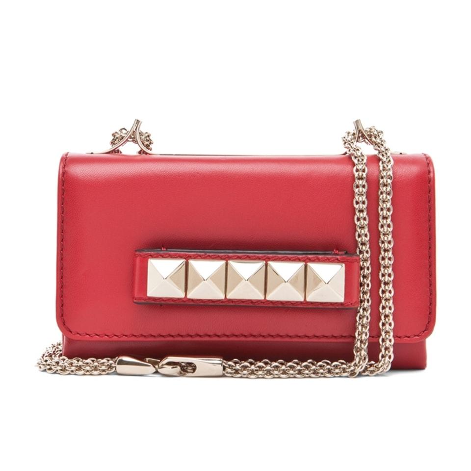 8709e1679d2 Valentino Flap Va Va Voom Mini Red Lambskin Leather Shoulder Bag ...