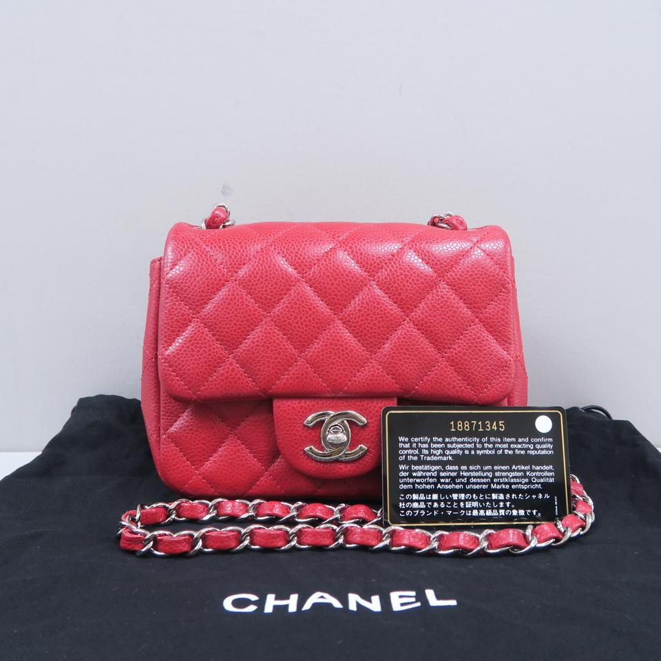 81cf08339ac1d8 Chanel Caviar Mini Square Flap Cross Body Bag Image 11. 123456789101112