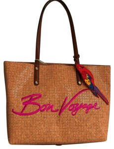 Tommy Bahama Bold Embroidery Plenty Of Pockets Exterior Zip Pocket Dual Handles Top Zip Closure Tote in Multi