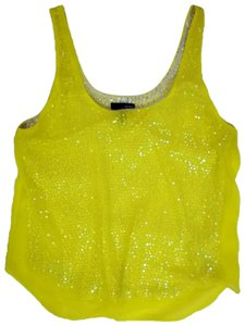 Aqua Top Yellow with silver sequins