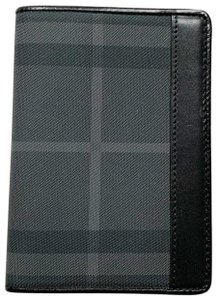 Burberry Check Leather Passport Holder Cover