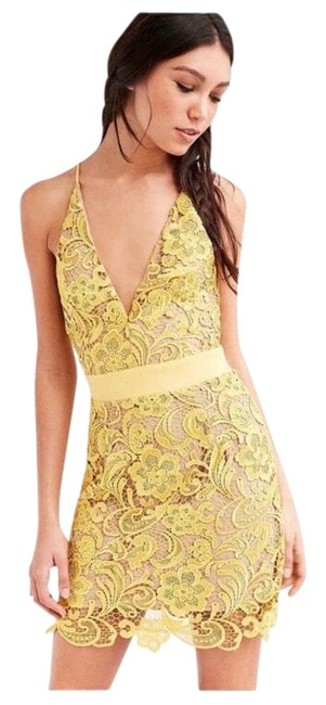 Item - Canary Nude Lace Mini Short Cocktail Dress Size 10 (M)