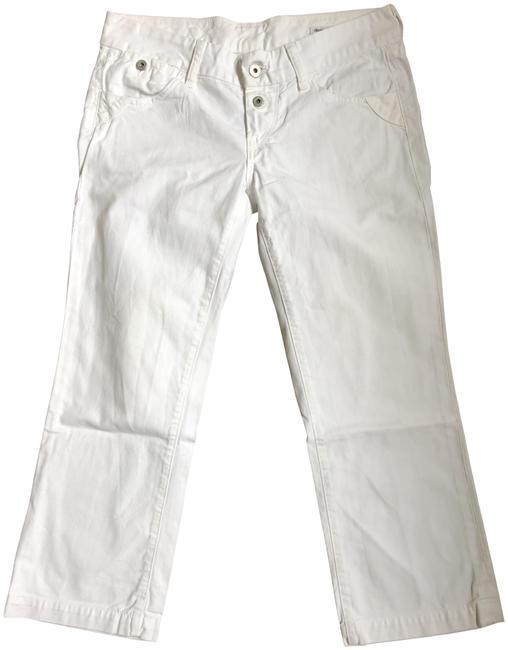 Item - White Wide Leg Crop Relaxed Fit Jeans Size 28 (4, S)