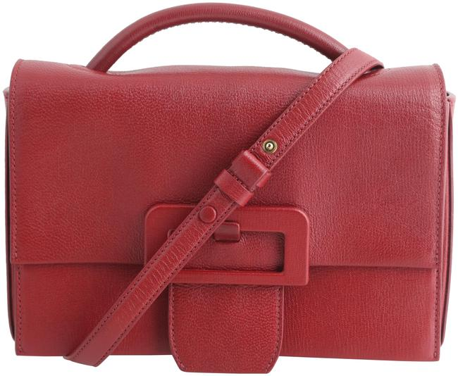 Item - Small Buckle Red Leather Cross Body Bag