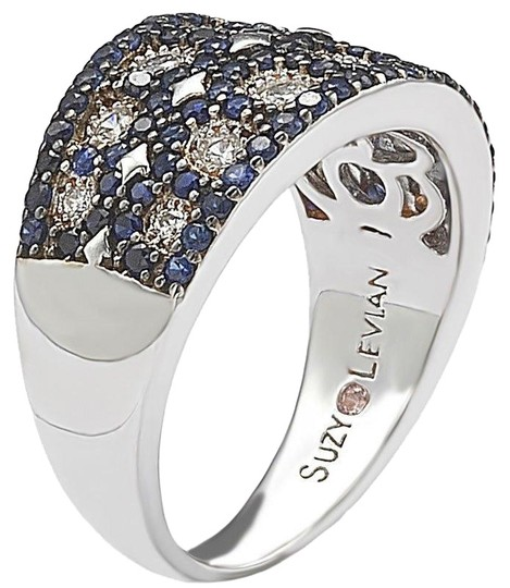 Preload https://img-static.tradesy.com/item/25120110/silver-sterling-created-blue-sapphire-mosaic-ring-0-1-540-540.jpg