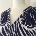 Lilly Pulitzer Silk Nautical Preppy Gold Top Blue Image 4
