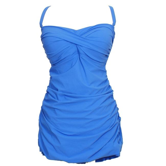 Profile by Gottex Twist Front Shirred Strapless Swimdress Swimsuit 20W Image 1
