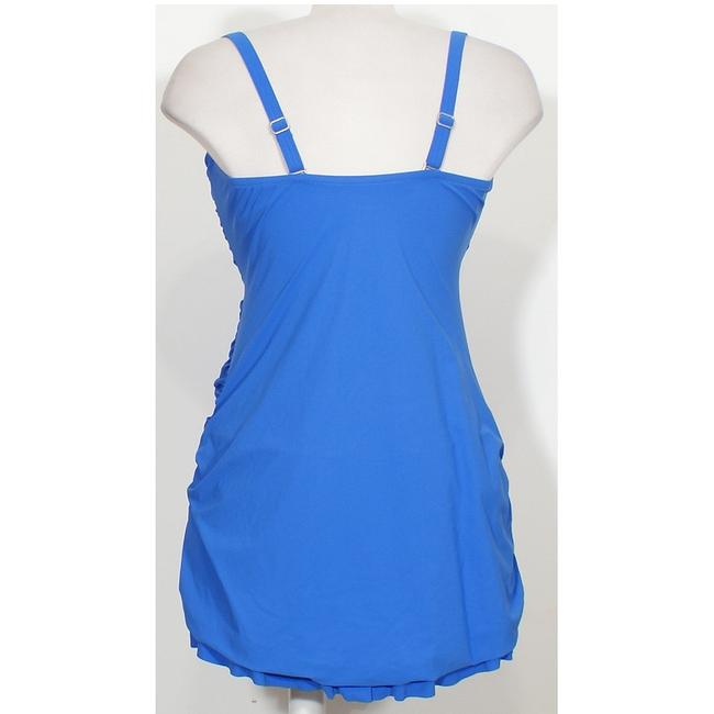 Profile by Gottex Twist Front Shirred Strapless Swimdress Swimsuit 20W Image 2