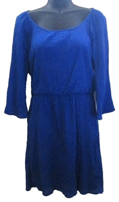 Item - Blue Mid-length Short Casual Dress Size 8 (M)