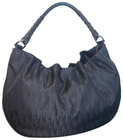 Preload https://img-static.tradesy.com/item/25120483/dior-trotter-shoulder-black-canvas-and-leather-hobo-bag-0-1-540-540.jpg