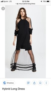 black Maxi Dress by MCQ by Alexander McQueen