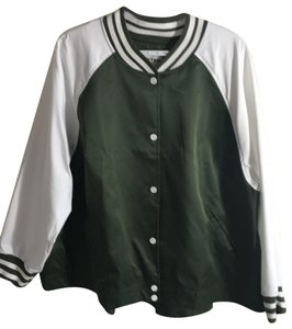 Hunter green and white Jacket