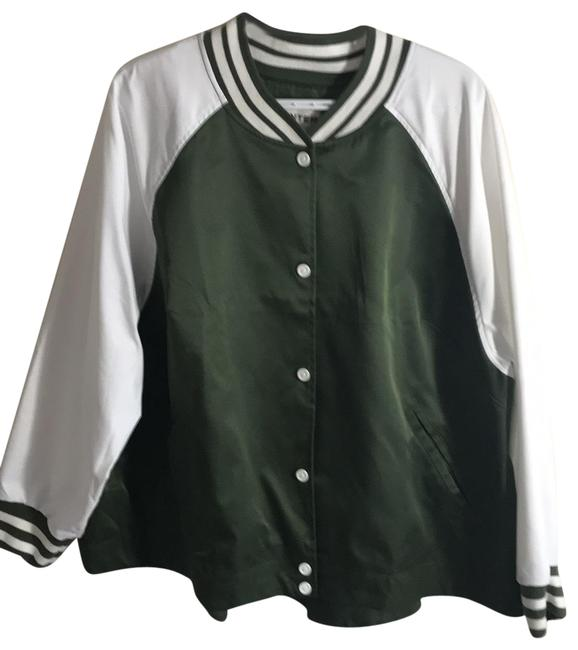 Item - Green and White For Target Baseball Jacket Size 22 (Plus 2x)