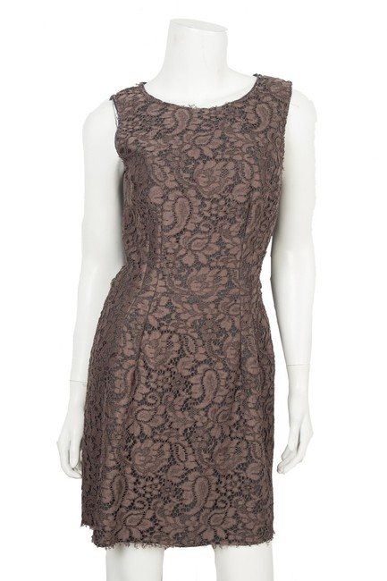 Item - Brown Dolce & Gabbana Lace Mini 44 Short Cocktail Dress Size 2 (XS)