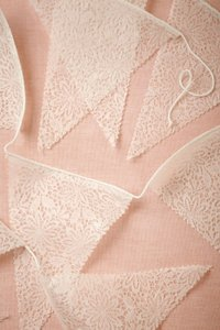 BHLDN White Lace Large Pennant Garland 10 Packages Each with Set Of 3 Reception Decoration