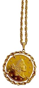 Avon Avon Gold Coin Necklace