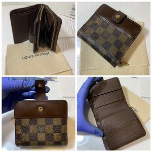 Louis Vuitton Damier Compact wallet with duster
