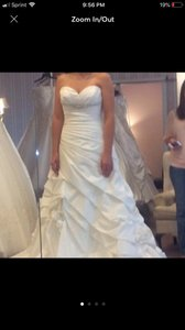 Ivory Elegant Comes with A Veil Formal Wedding Dress Size 8 (M)