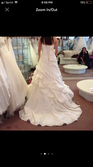 Ivory Elegant Comes with A Veil Formal Wedding Dress Size 8 (M) Image 1