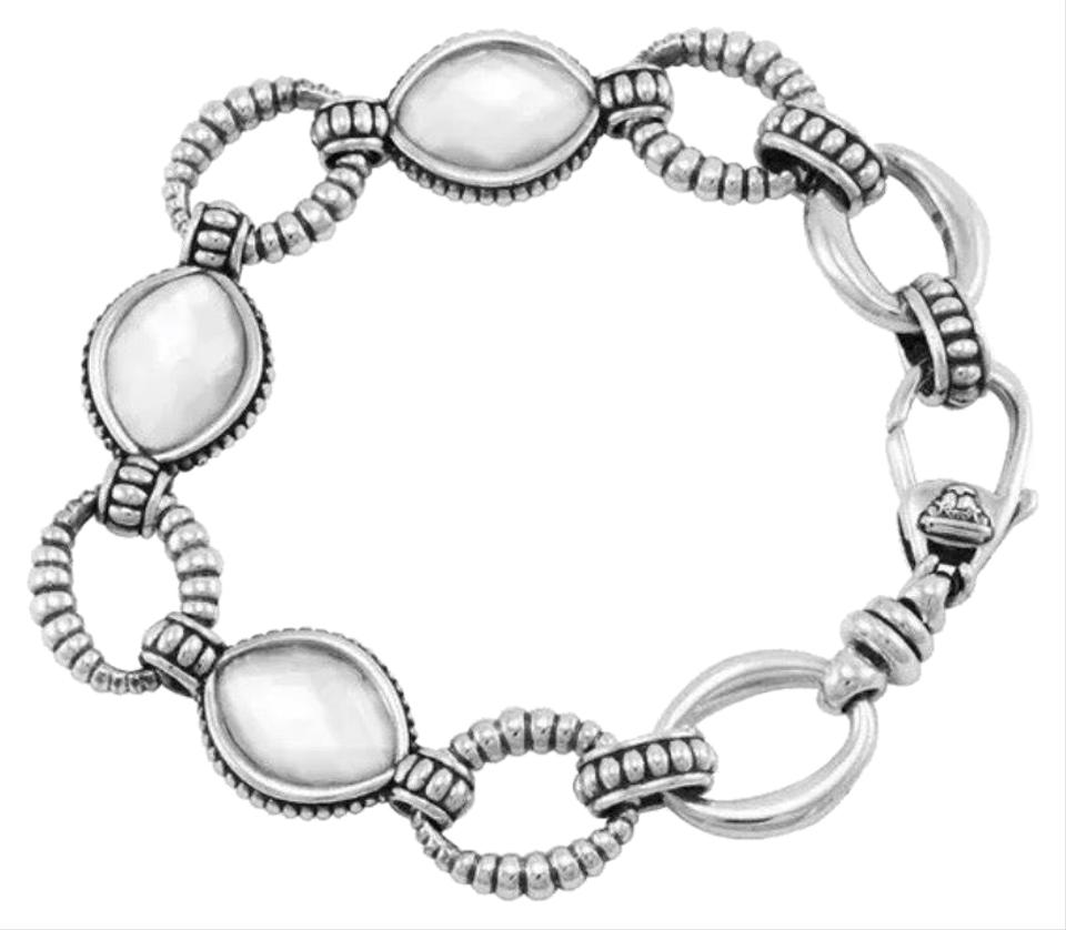 Lagos Venus Caviar White Mother Of Pearl Doublet Sterling