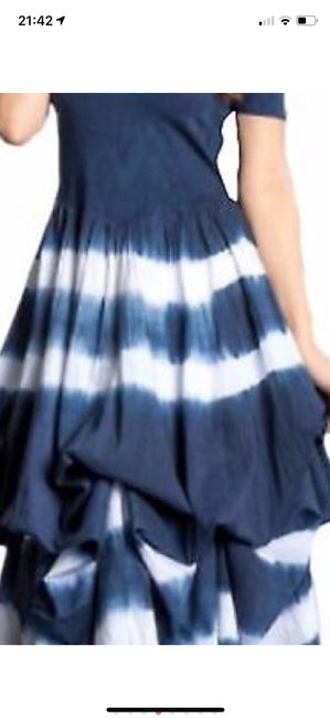 blue and white tie-dye Maxi Dress by J Squad Image 1