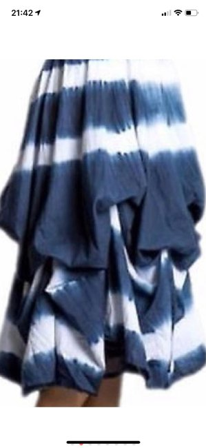 blue and white tie-dye Maxi Dress by J Squad Image 4