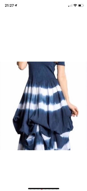 blue and white tie-dye Maxi Dress by J Squad Image 6