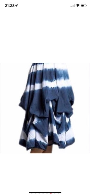 blue and white tie-dye Maxi Dress by J Squad Image 7