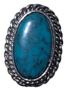 Vintage Vintage turquoise stone silver ring